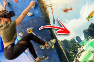 Rock Climbers Try The Climb In Virtual Reality On Oculus Quest