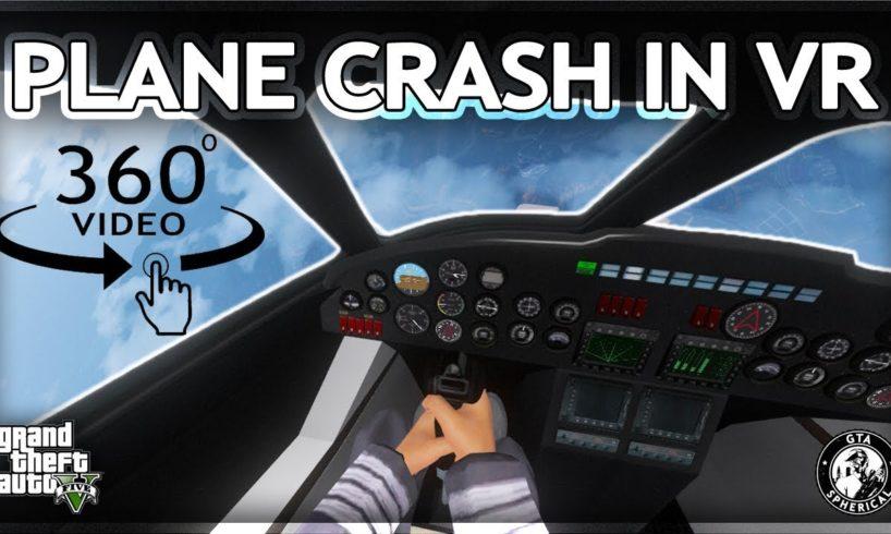 Plane Crash in Virtual Reality - 360° GTA V