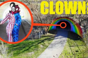 you won't believe what my drone caught on camera inside Clown Tunnel / scary killer clown sighting!