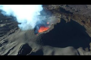 Drone Camera Captures Volcano Eruption