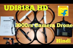 UDI RC U818A HD Camera Drone From Flipkart for 3000rs , Unboxing and flight test Quadcopter , INDIA