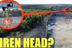 You won't believe what my drone caught on camera at the Siren Head Forest / We saw him! He is HUGE!