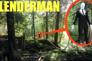 you won't believe what my drone caught on camera in the Slender Man forest (we saw him)