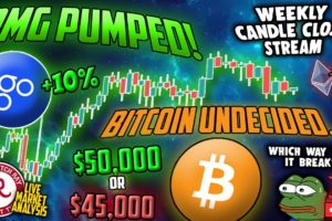 Bitcoin Live : BTC Weekly Candle Close, OMG Pumped