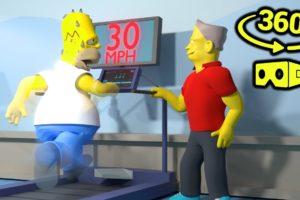 Homer Simpson Buying Treadmill(VR/360° Video)