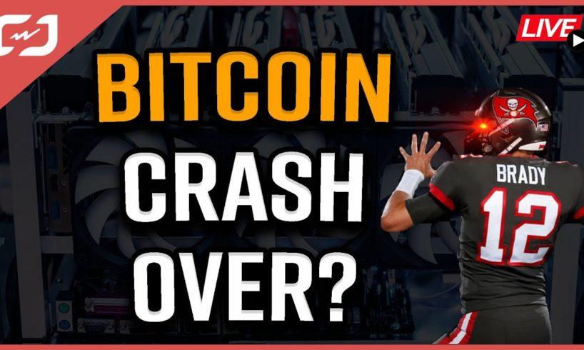 BITCOIN CRASH Over?   Tom Brady Wants Crypto!  Bitcoin Price Prediction   Coffee N Crypto LIVE