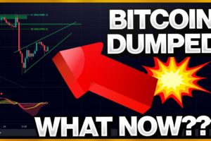 BITCOIN DUMPED!!!!!! CORRECTION OVER ?!?!?! WATCH THESE LEVELS!!!