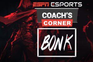 ESPN Esports Coach's Corner with BONK Head Coach Salah | ESPN Esports