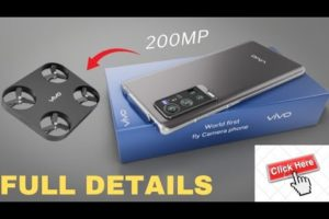 Vivo Flying Camera phone, 200MP | Worlds FIRSTying || Drone Camera Phone, 6000 mAh 12GB Ram,52GB