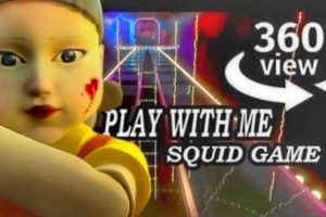 YOU control the Squid Game DOLL on the Glass Bridge (VR 360 Video)