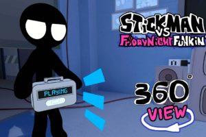 Stickman Vs Friday Night Funkin'  360° Animation