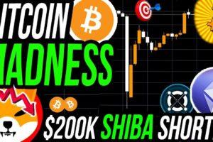BITCOIN FLASH CRASH MADNESS!!! $200K SHIBA INU $SHIB SHORT $30K PROFIT! Facebook META CRYPTO REBRAND