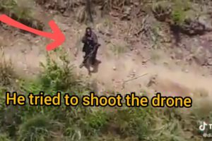 Drone Camera accidentally captures an armed bandit on Baringo Laikipia border