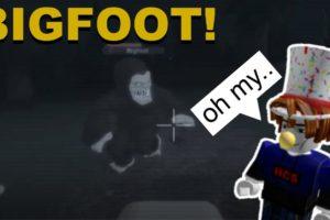 I found Bigfoot on my Drones Camera! (ROBLOX Bigfoot)