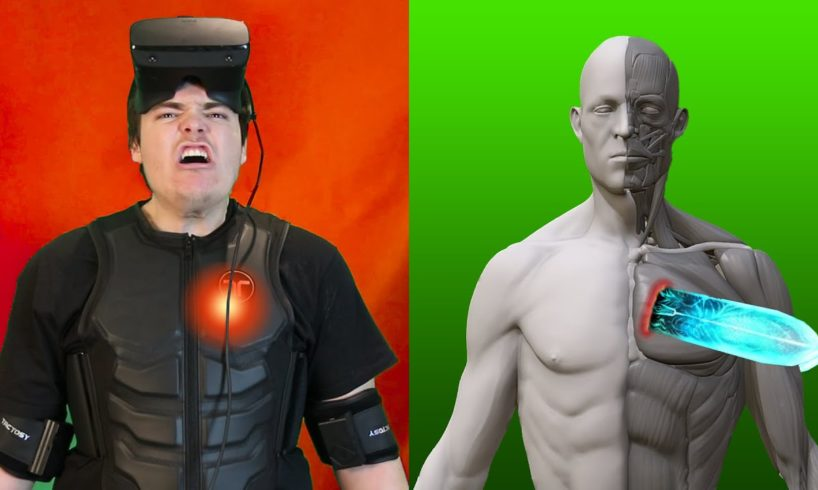 HOW MUCH PAIN CAN I FEEL IN VR? (Haptic Suit)