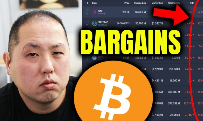 BARGAIN HUNTING AFTER THE BITCOIN DIP | WHICH ALTCOINS?