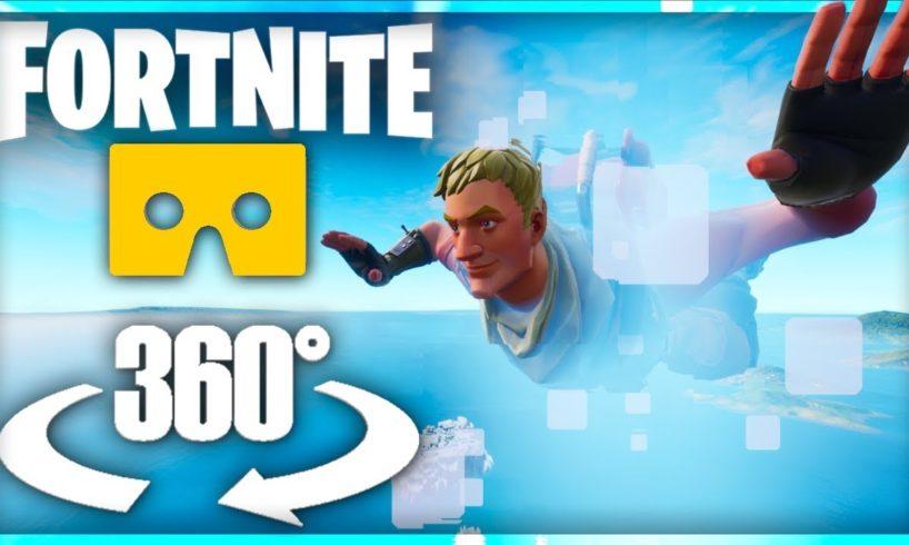 Fortnite Skydiving in Virtual Reality - 360° Video