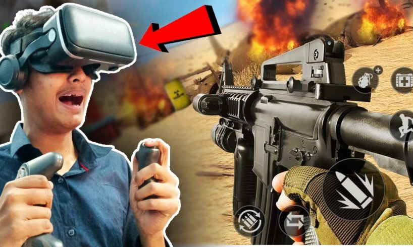 I played SHOOTER GAMES in VIRTUAL REALITY BOX ! The best budget VR BOX ever !!!