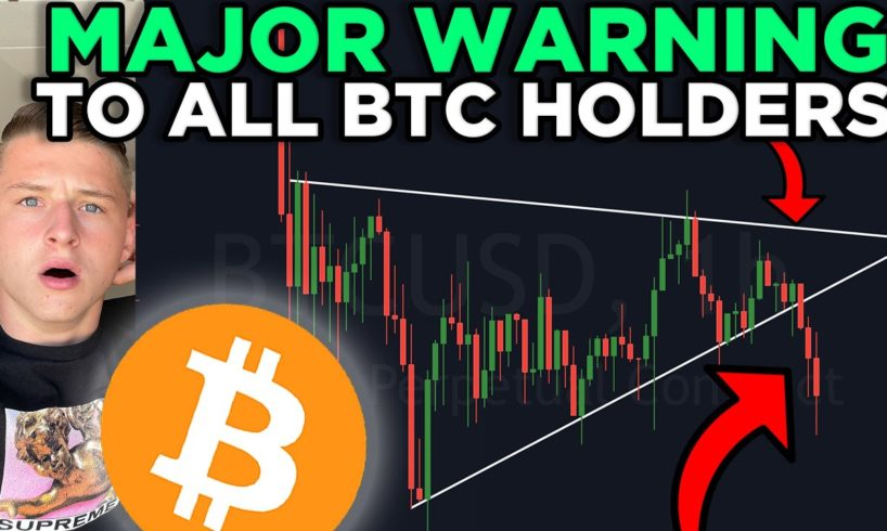 WARNING: BITCOIN IS IN EXTREME DANGER RIGHT NOW!!! + MY NEXT MAJOR SWING TRADE!!!