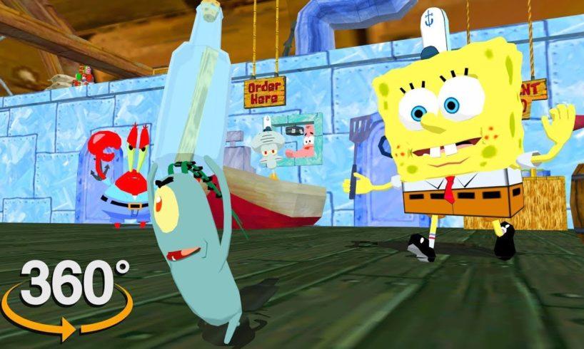 Spongebob Squarepants! - 360° Secret Formula? - (The First 3D VR Game Experience!)