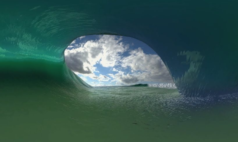 Virtual Surfing 360 Virtual Reality Video - look around in the tube