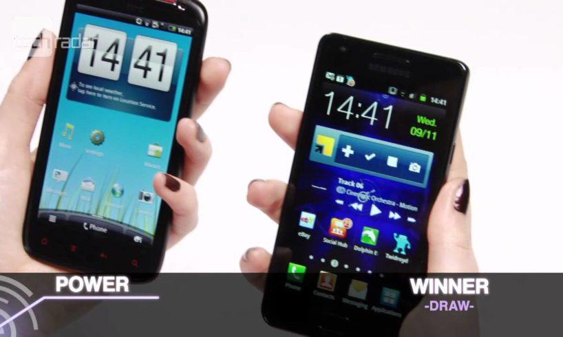 HTC Sensation XE vs Galaxy S2 Test Video