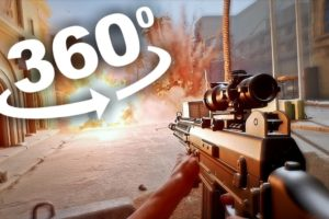 360 Video of Shooter Game inspired by PUBG Free Fire Call of Duty