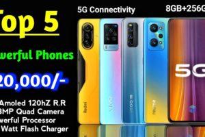 Best smartphone under 20000 |  Top 5 All-rounder phone under 20000 | 5G phone | 108mp camera