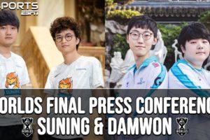 Worlds 2020 Final Press Conference: Suning vs. Damwon | ESPN ESPORTS