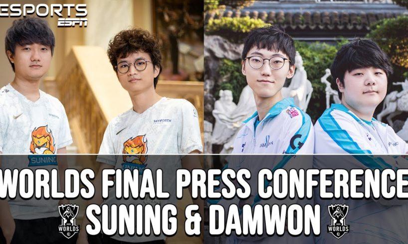 Worlds 2020 Final Press Conference: Suning vs. Damwon   ESPN ESPORTS