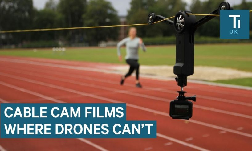 Cable Camera Mount Can Film Tracking Shots Where Drones Can't