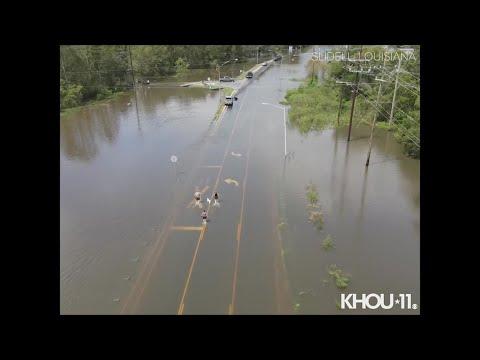 Drone 11 video of Hurricane Ida's effect on Slidell, Louisiana