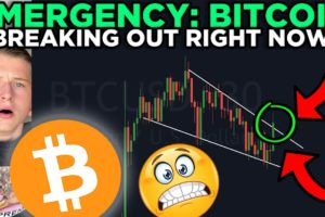BREAKING: BITCOIN BREAKING OUT OF THE FALLING WEDGE RIGHT NOW!!!!!!!!!