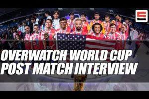 Team USA Overwatch World Cup 2019 post match interview | ESPN esports