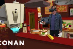 Conan Visits YouTube's VR Lab | CONAN on TBS