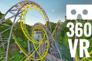 [360 video] Busch Gardens 360° VR Box Roller Coaster POV Virtual Reality