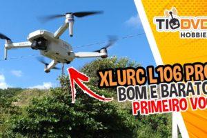 XLURC L106 PRO PRIMEIRO VOO TESTE DRONE BOM E BARATO COM CAMERA GPS GIMBAL PARA INICIANTES COMPRAR